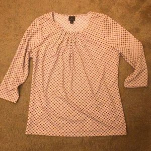 Pink black and white large worthington top